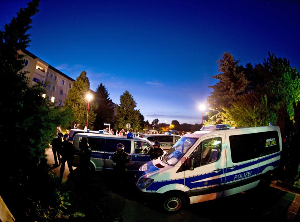 The hotel Leonardo in Freital, a temporary home for up to 300 refugees, has been at the centre of violent anti-migrant protests and counter demonstrations for several weeks