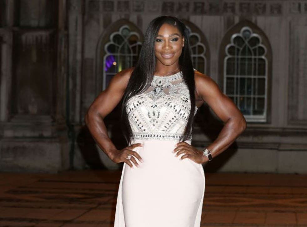 Women's singles winner Serena Williams at the Wimbledon Champions' Dinner 2015