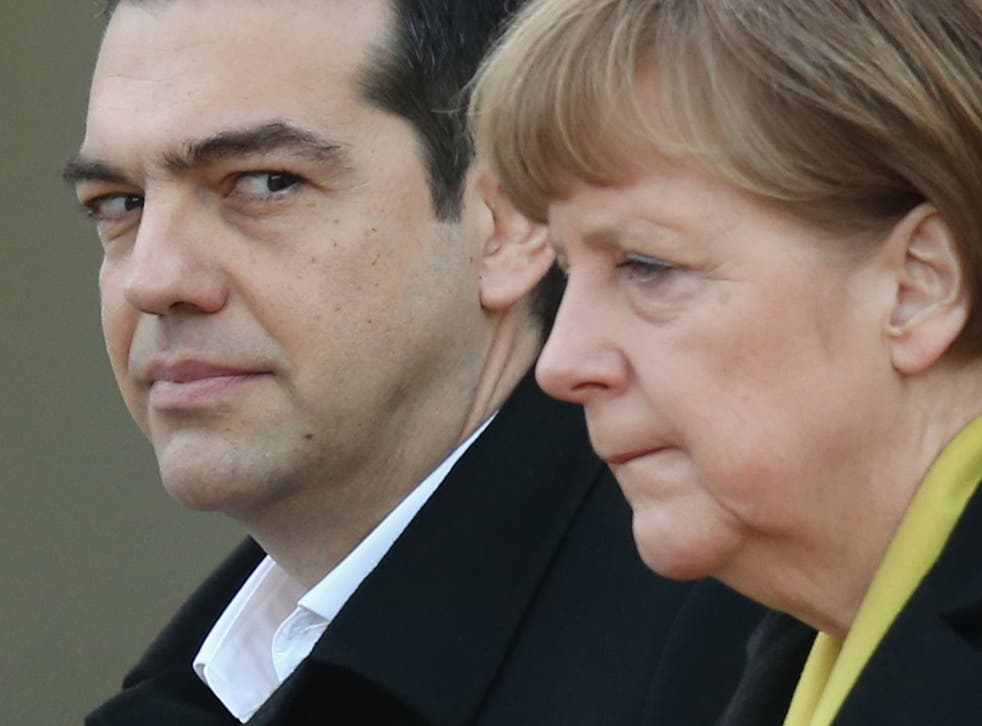 Germany has taken an increasinly tough line on Greece,  demanding guarantees Athens will observe proposed austerity measures
