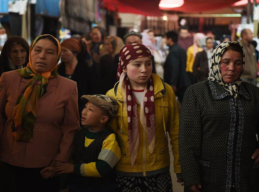 Repression of Uighur human rights has included the barring of women wearing the traditional Muslim headscarf from public venues, activists say.