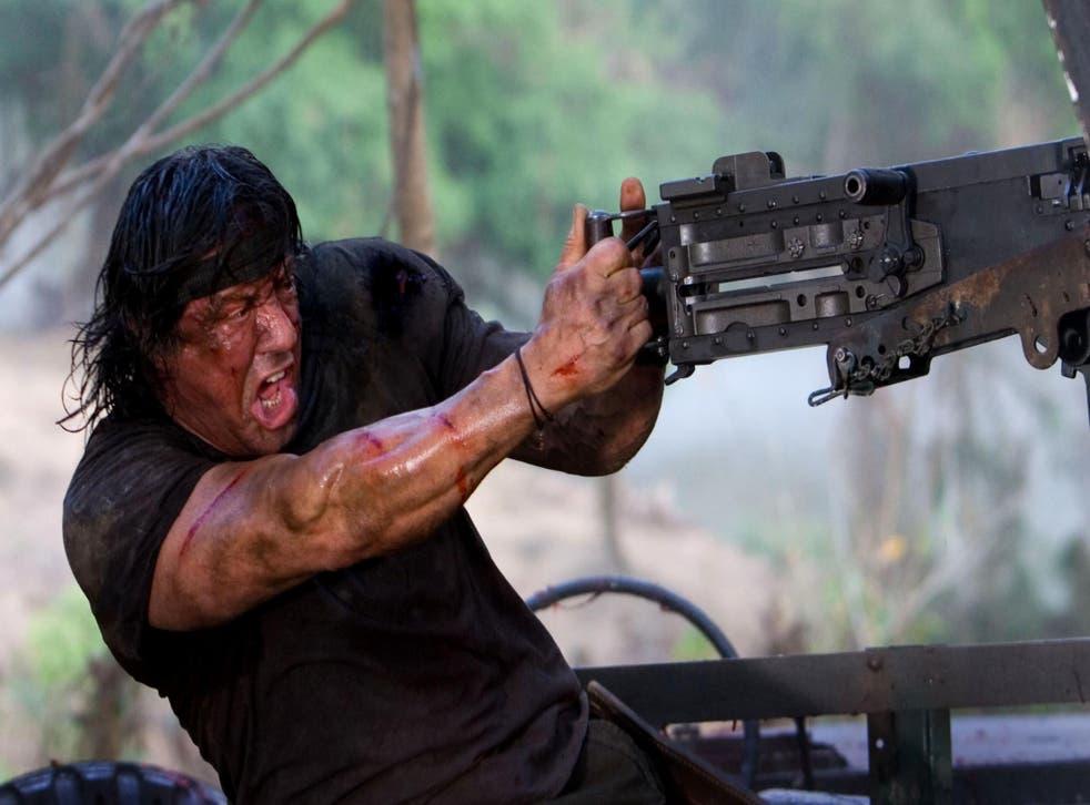 Rambo (2008), starring Sylvester Stallone