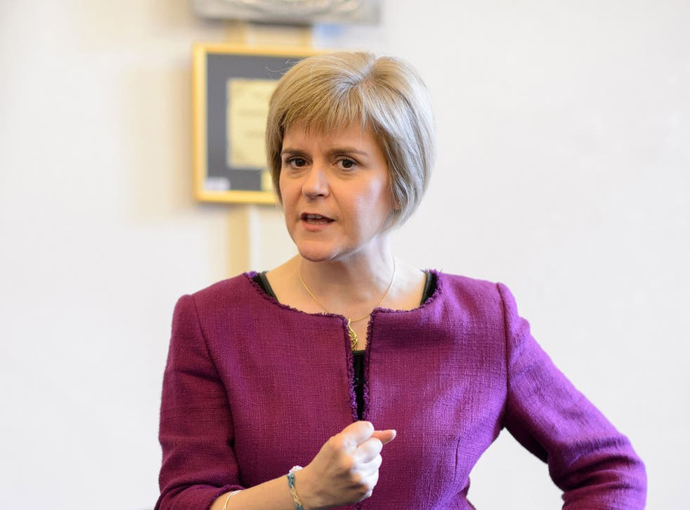 The Scottish First Minister says the Tories will push Scotland towards another vote