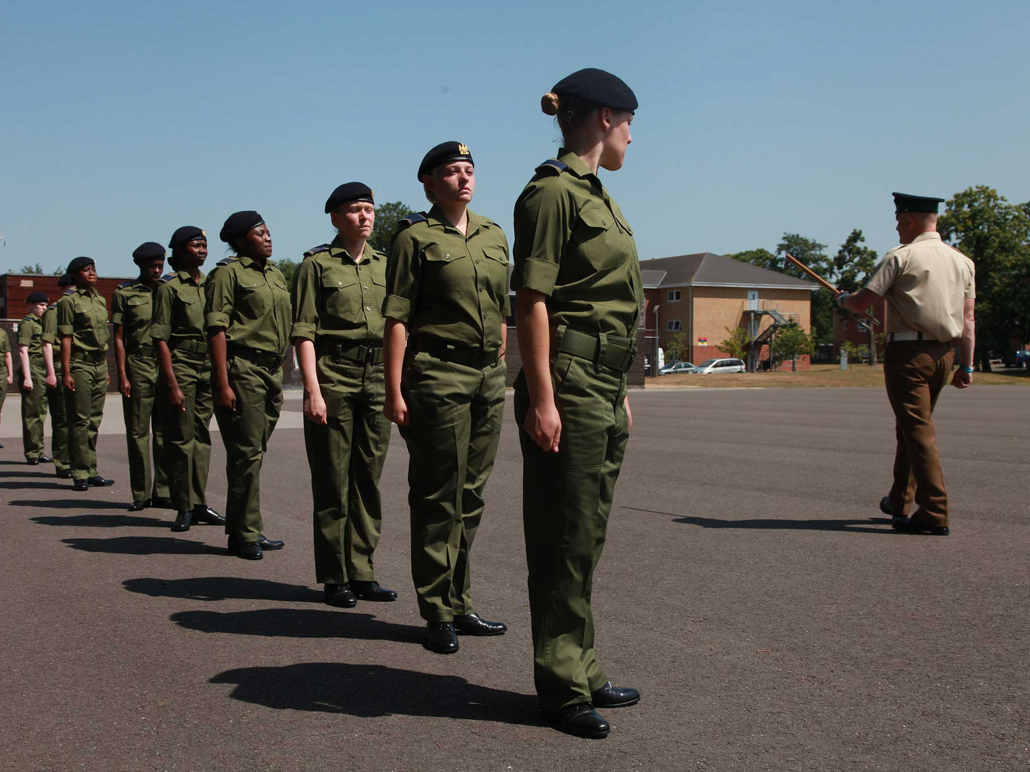 sexual harassment in the military The us army has suspended 55 soldiers serving as recruiters, drill instructors and sexual assault counselors in response to recent findings about sexual harassment in the military, a report said.