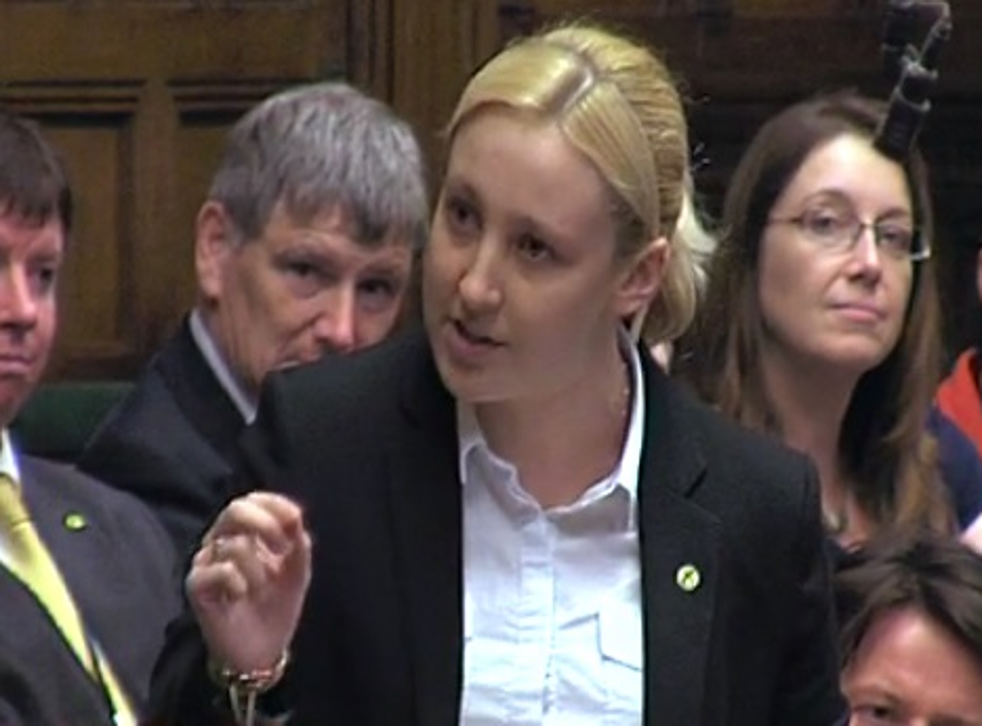 Mhairi Black delivers her maidens speech in the House of Commons