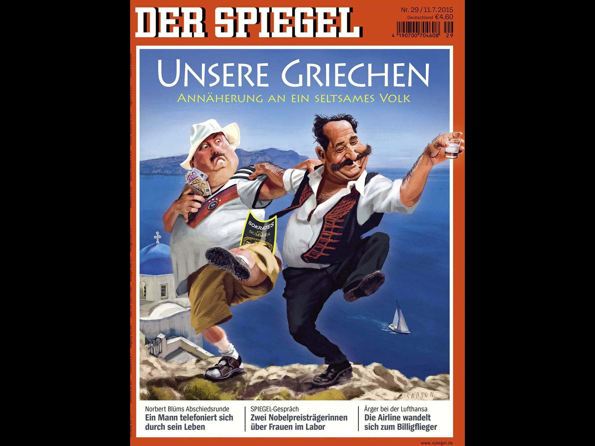 Greece debt crisis german greek relations slump further for Spiegel magazi