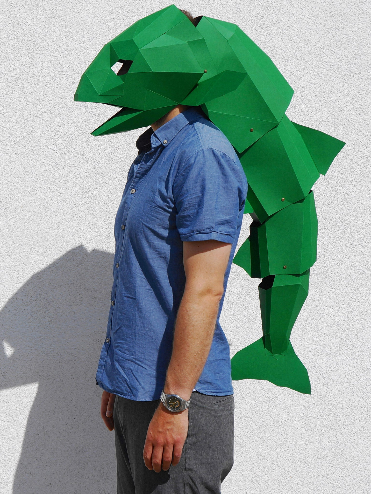 This Green Fish Mask Is Wintercrofts Favourite Design