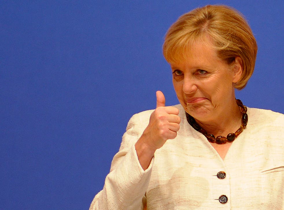 Most Germans agree with Chancellor Angela Merkel on Greece