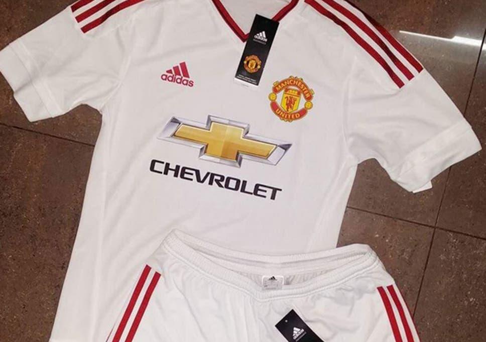 43c8f58d3b3 Manchester United 2015 16 away kit leaked  All white adidas kit ...