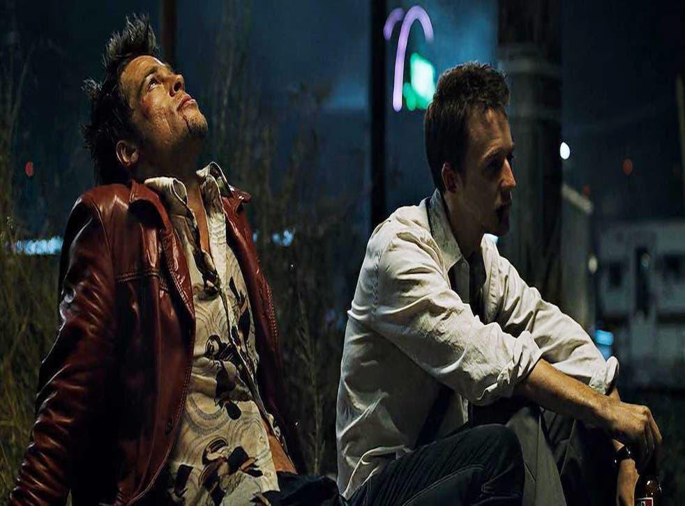 Brad Pitt and Edward Norton in 1999's Fight Club