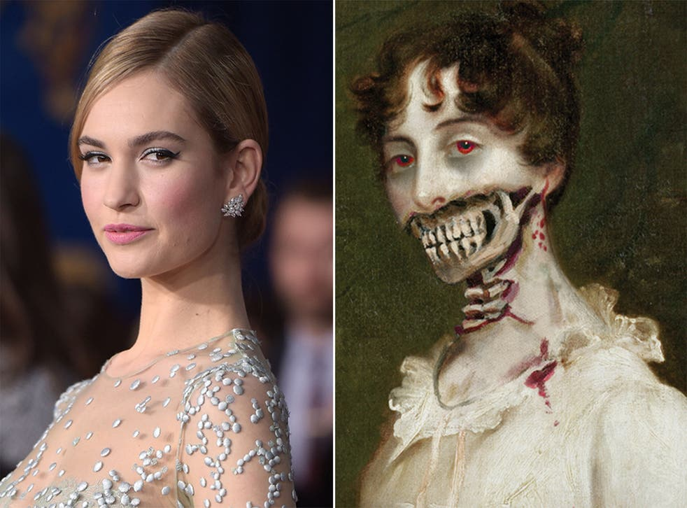 Lily James will star as Elizabeth Bennet in the film adaptation of Pride and Prejudice and Zombies