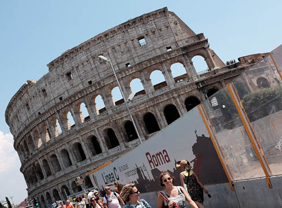 The Colosseum in Rome is under restoration paid for by a private company