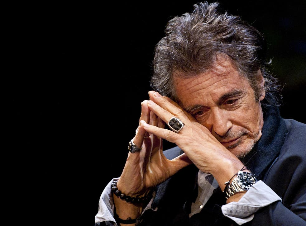 Actor Al Pacino during An Evening With Al Pacino at Eventim Apollo