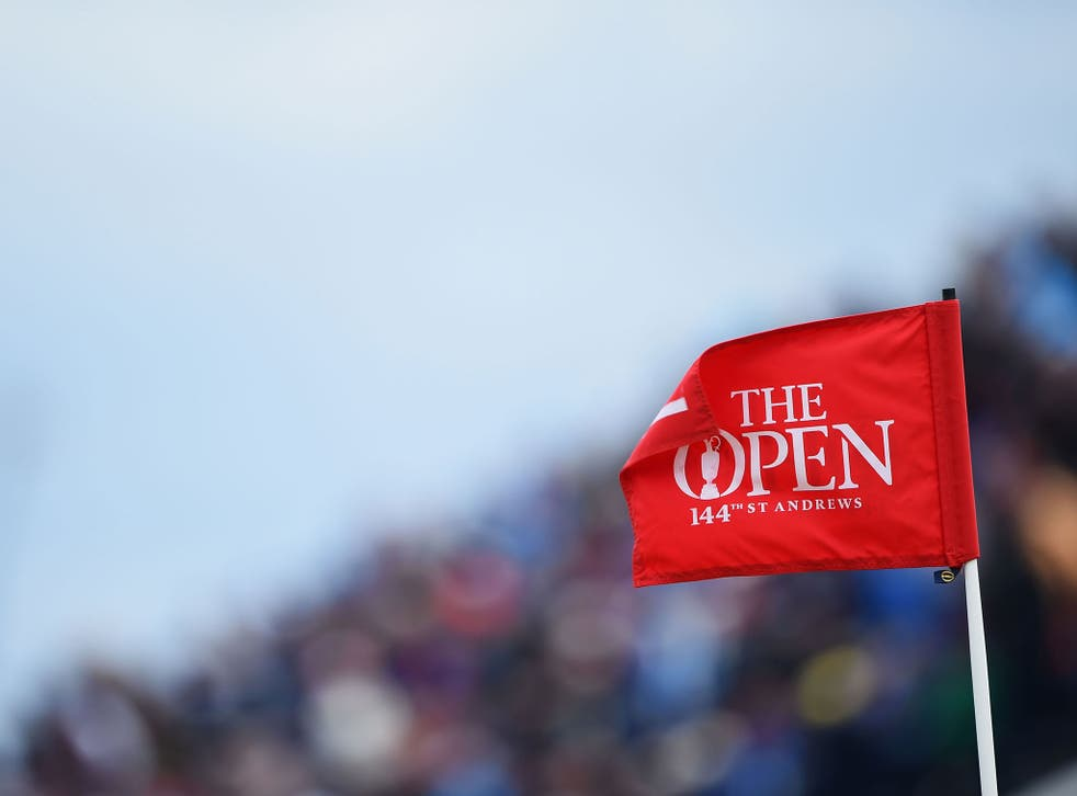 A view of The Open on the second day