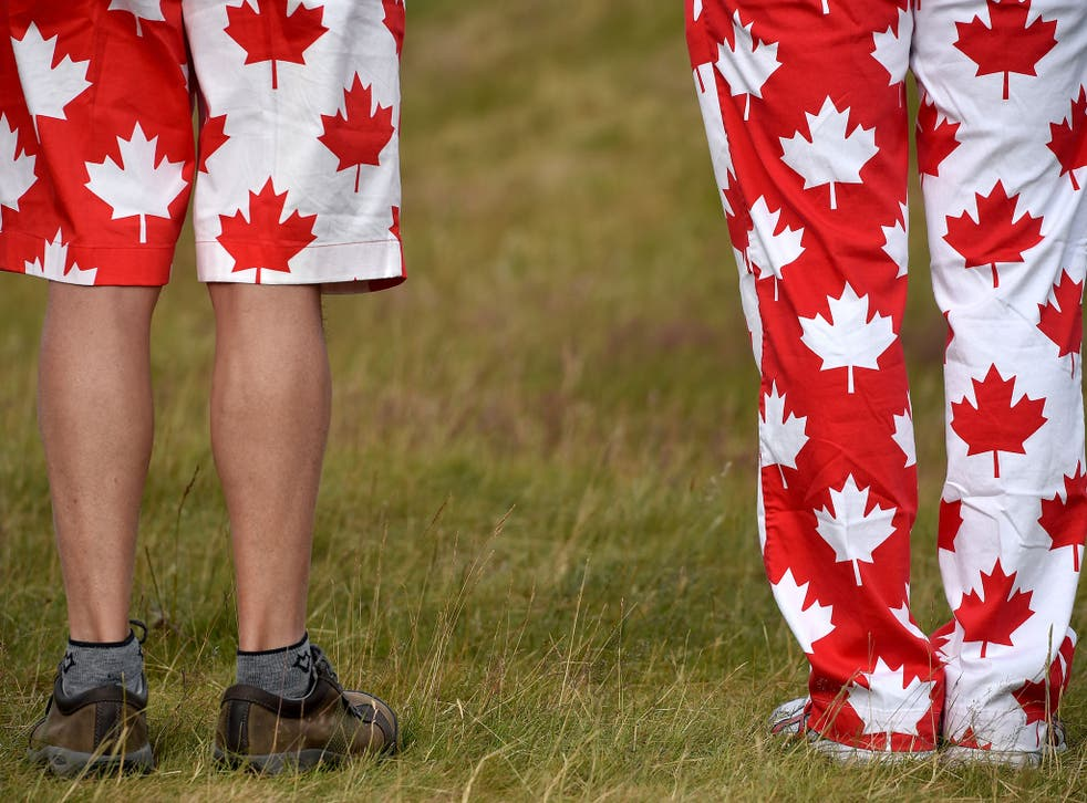 Canadian fans on the course
