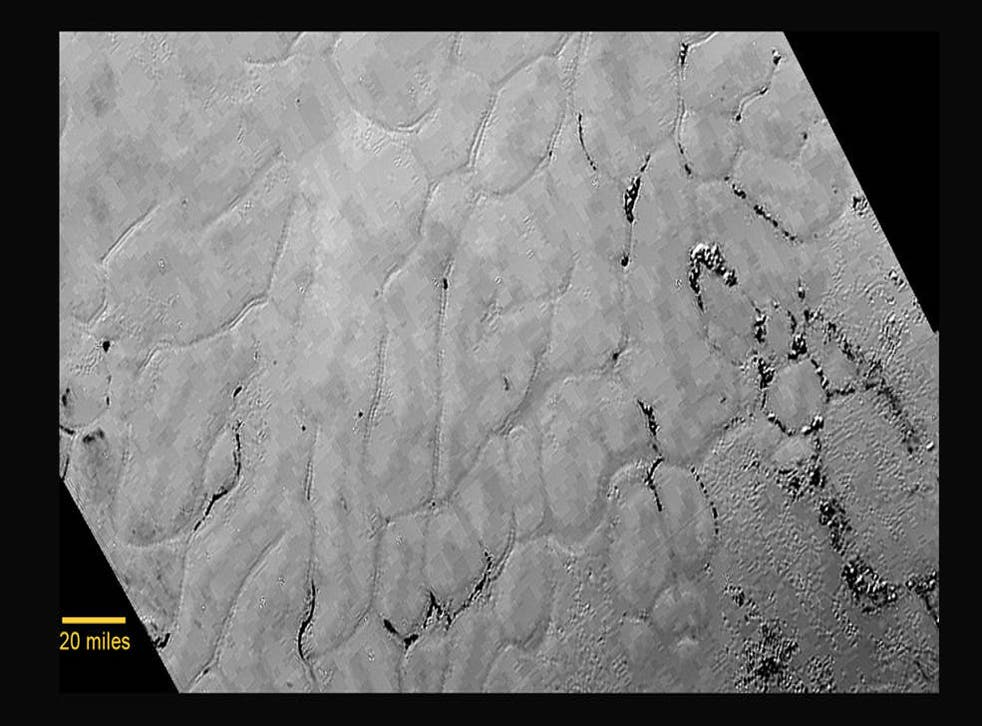 A vast, craterless plain at the centre of Pluto's heart-shaped feature