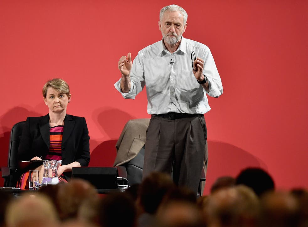 Jeremy Corbyn,takes part in a hustings in The Old Fruitmarket, Candleriggs on July 10, 2015 in Glasgow, Scotland