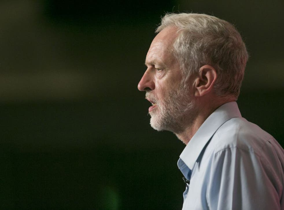 Jeremy Corbyn, who is running for leader of the Labour party