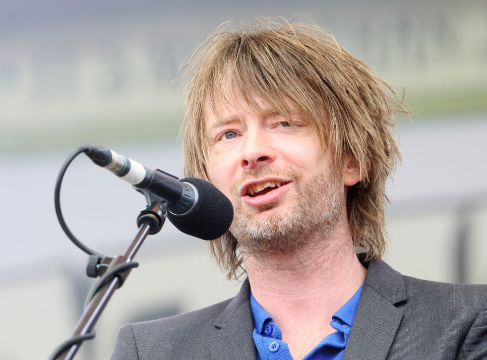 Thom Yorke on the 4th day of the 2015 Latitude festival