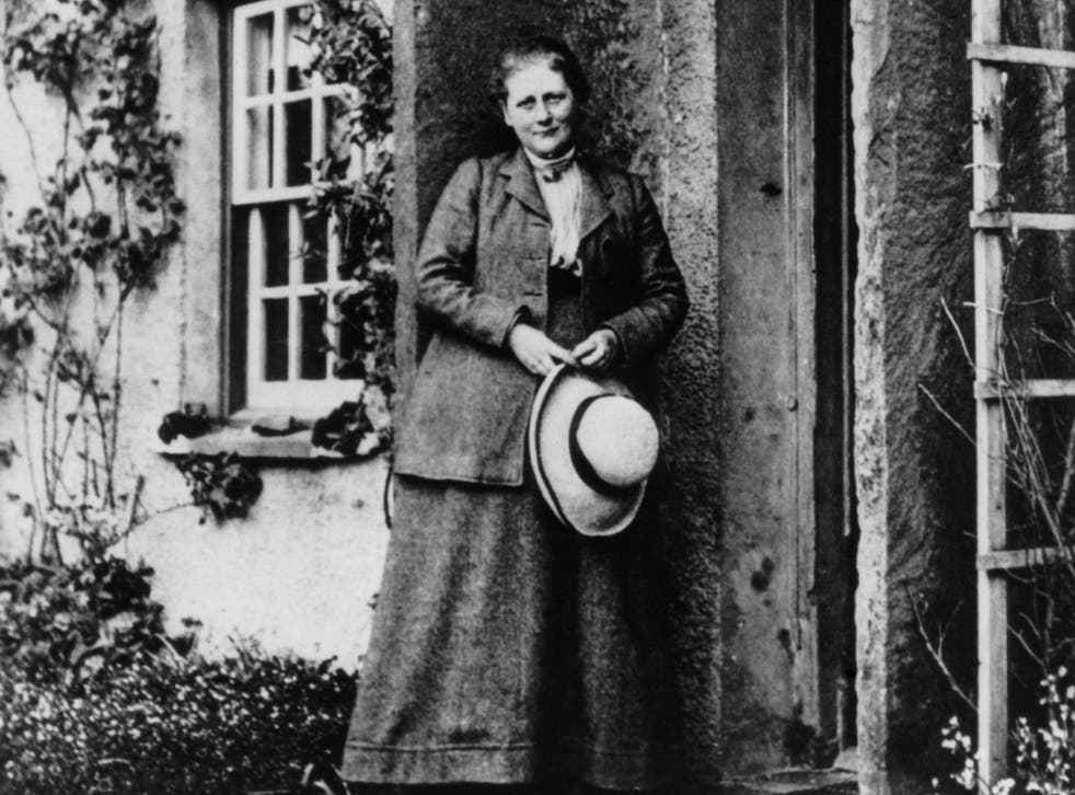 Beatrix Potter in 1905 at her farm Hill Top in the Lake District