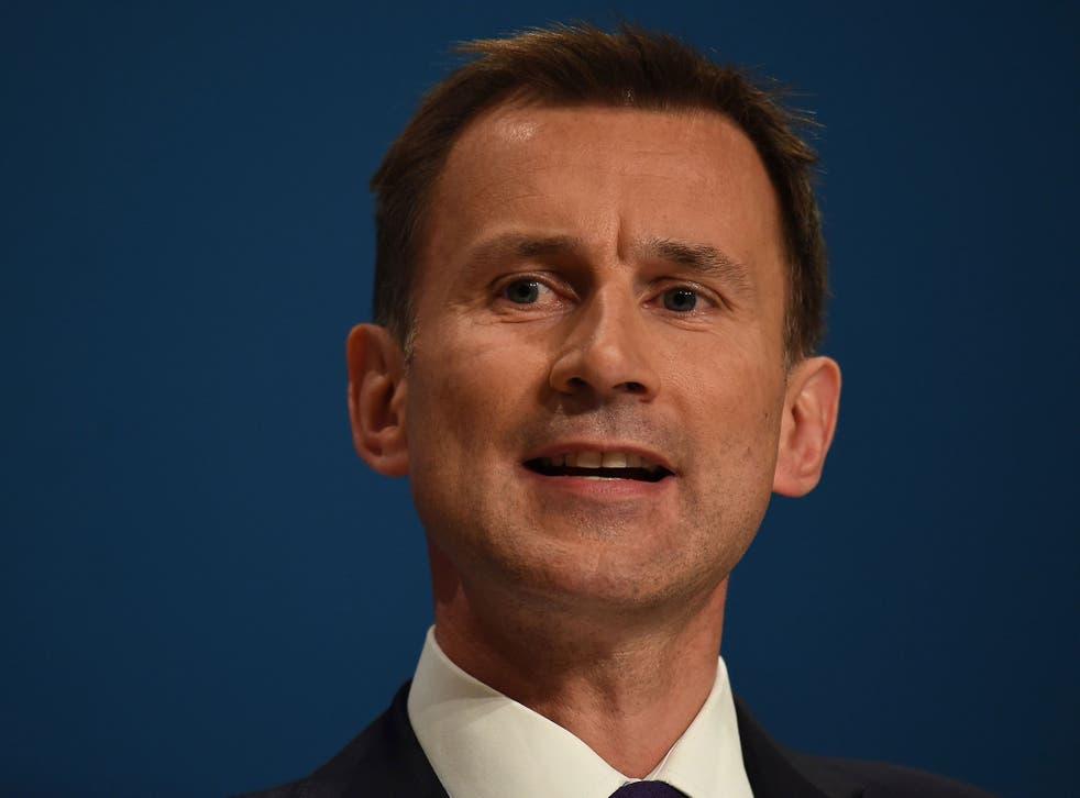 Jeremy Hunt, the Health Secretary