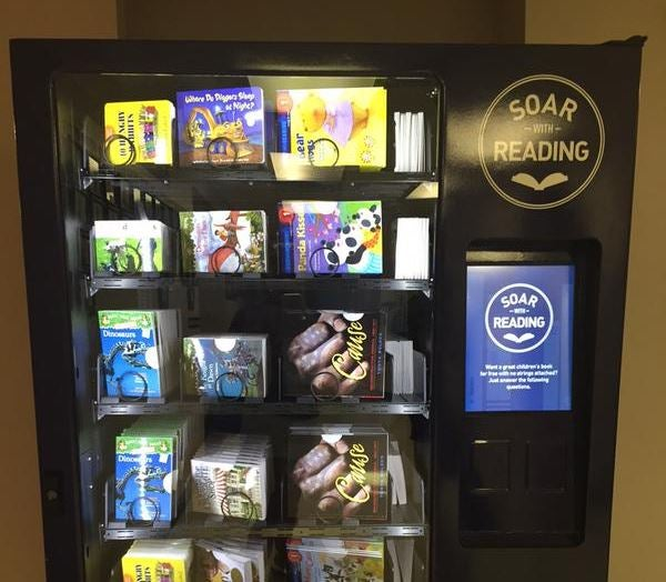 JetBlue airline gives Anacostia in Washington D.C. vending machines containing 100,000 books to 'tackle literacy problem'