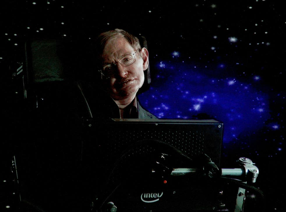 Professor Hawking said that there was 'no bigger question' in science than whether human beings are alone