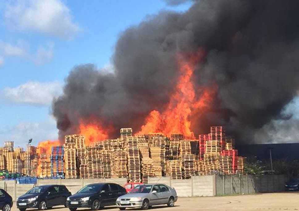 enfield fire huge blaze breaks out at north london industrial