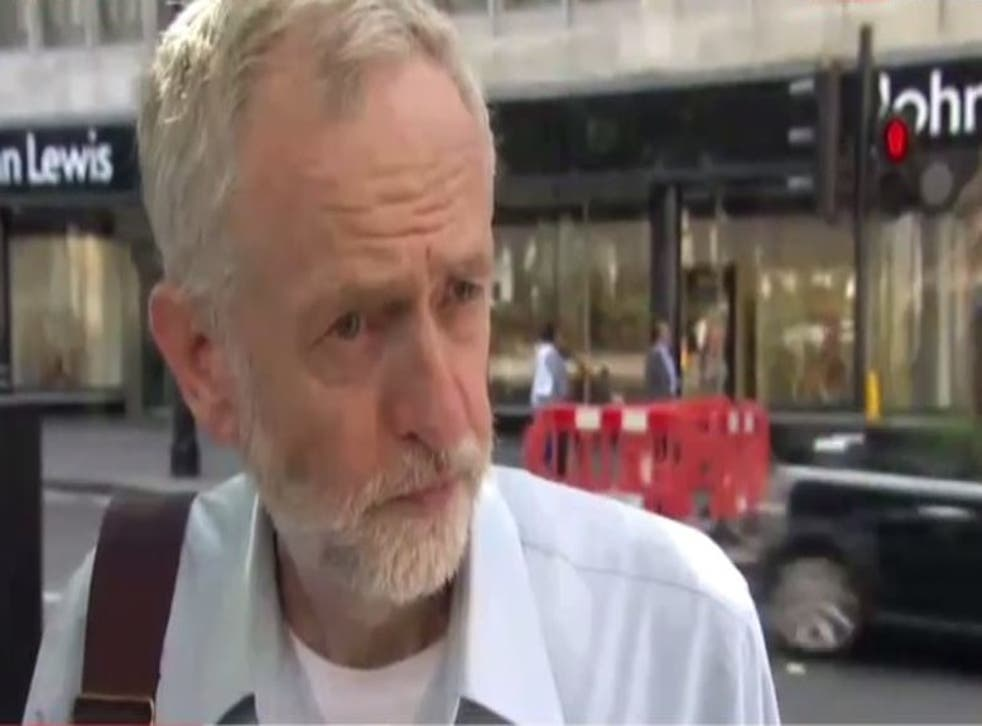 Jeremy Corbyn reacts to Tony Blair calling him 'the Tory preference' candidate