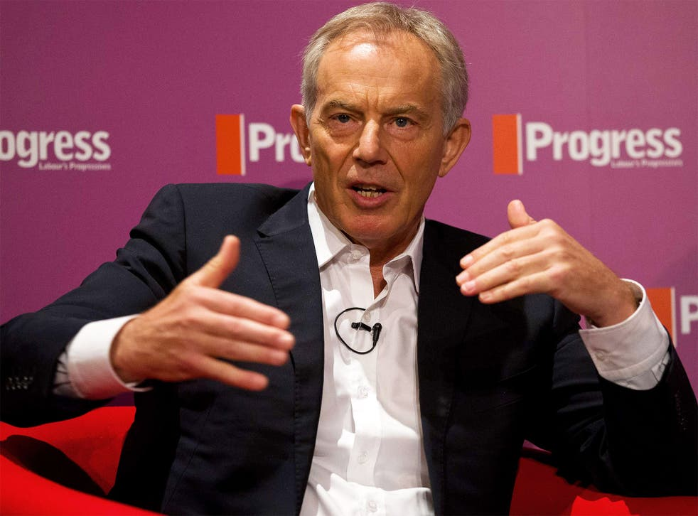 Tony Blair delivers a speech to the Labour modernisers' think-tank Progress
