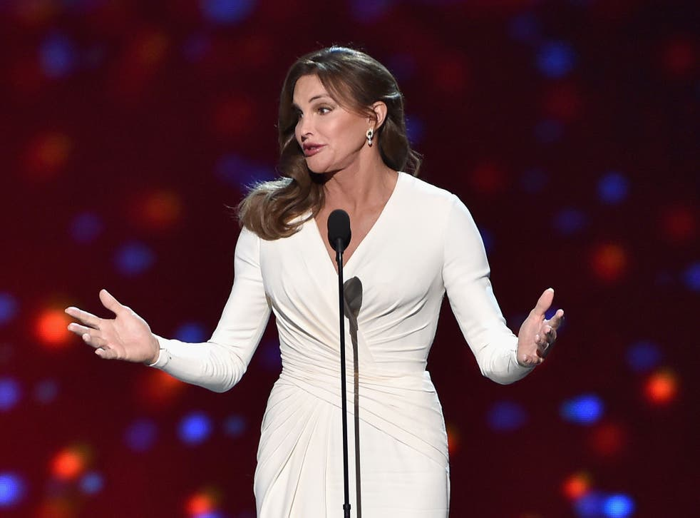 Caitlyn Jenner accepts her Arthur Ashe Courage Award at the ESPY awards
