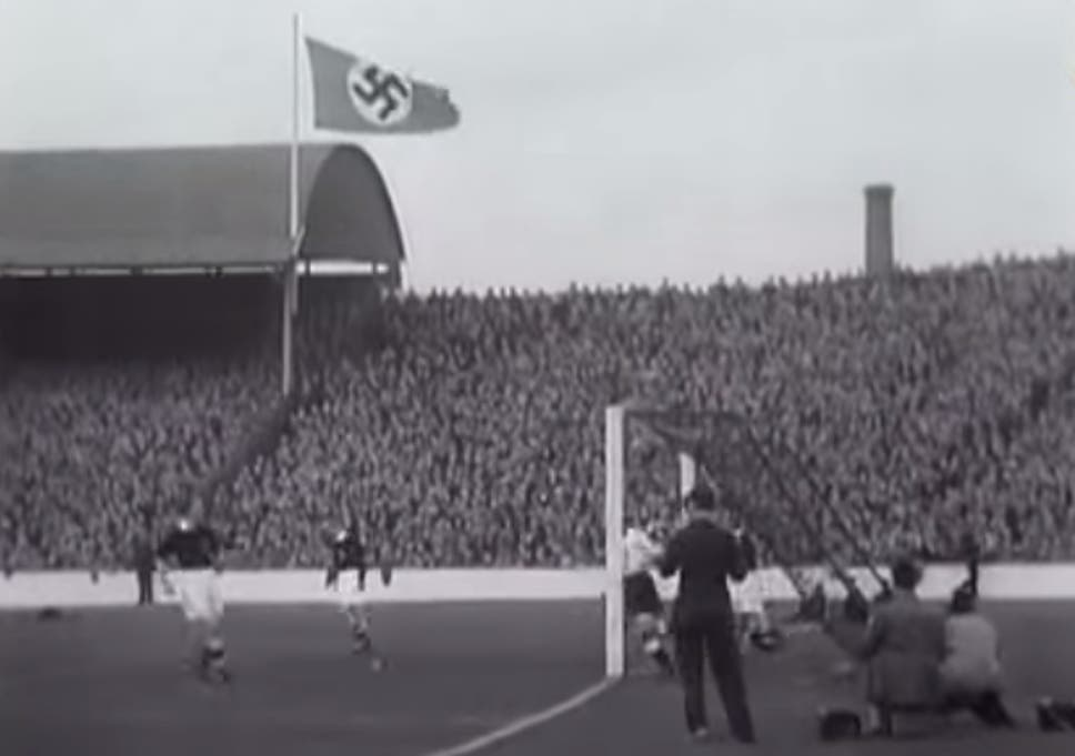 Archive Video Shows Nazi Flag Flying In Glasgow Hitler Salute In