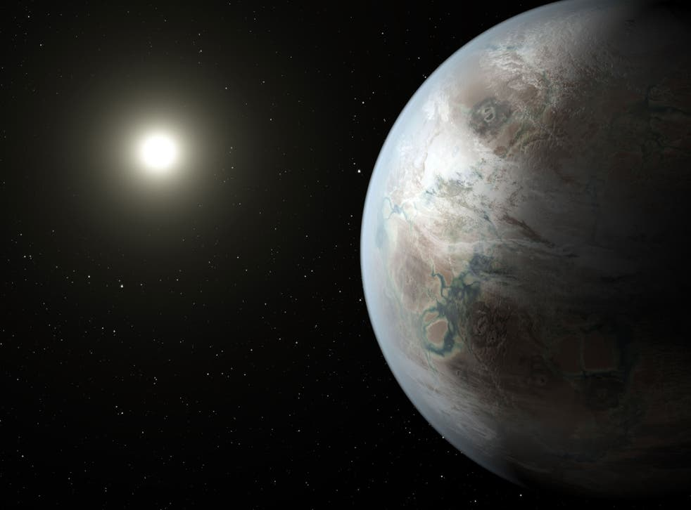 An artist's impression of Kepler 452b, the most Earth-like planet ever discovered