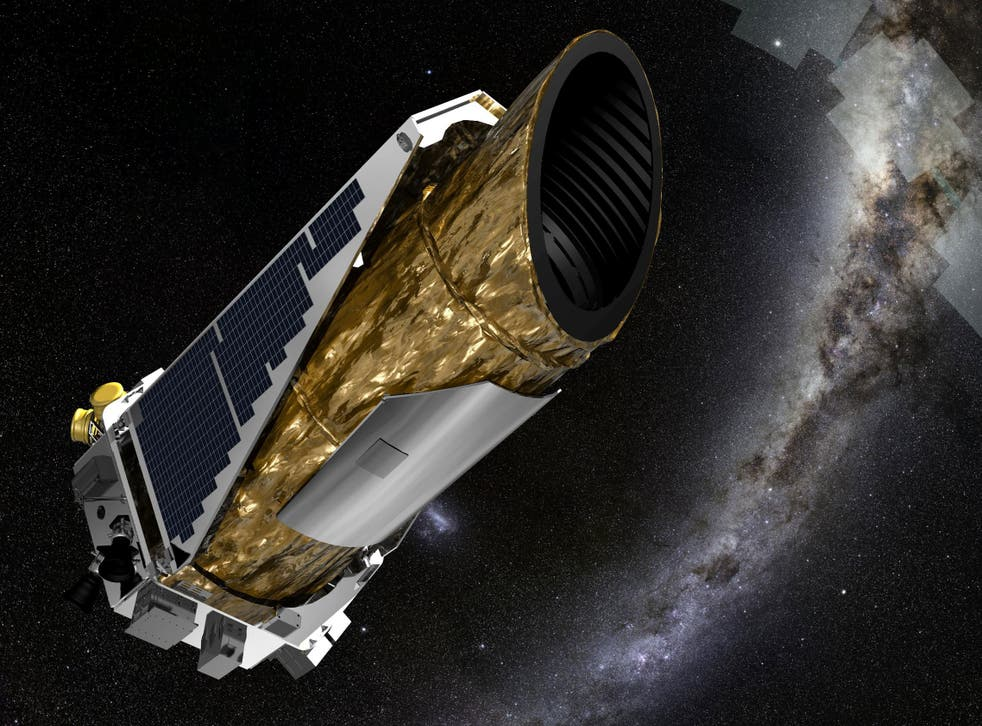 The Kepler Space Telescope, imagined floating around 75 million miles from us