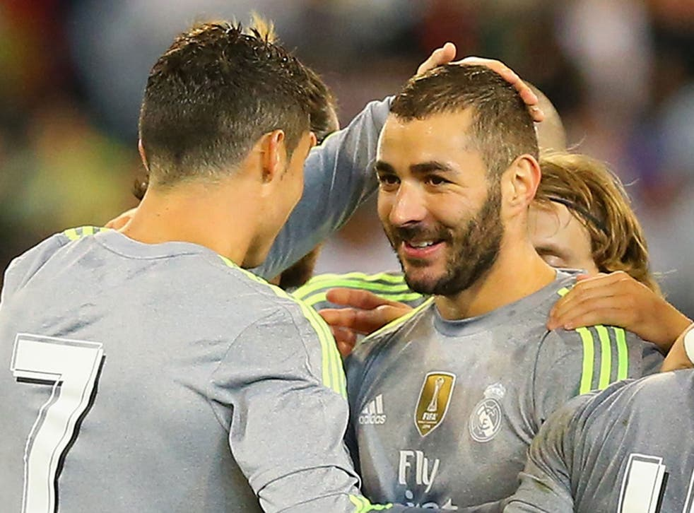 Karim Benzema during Real Madrid's pre-season win over Manchester City