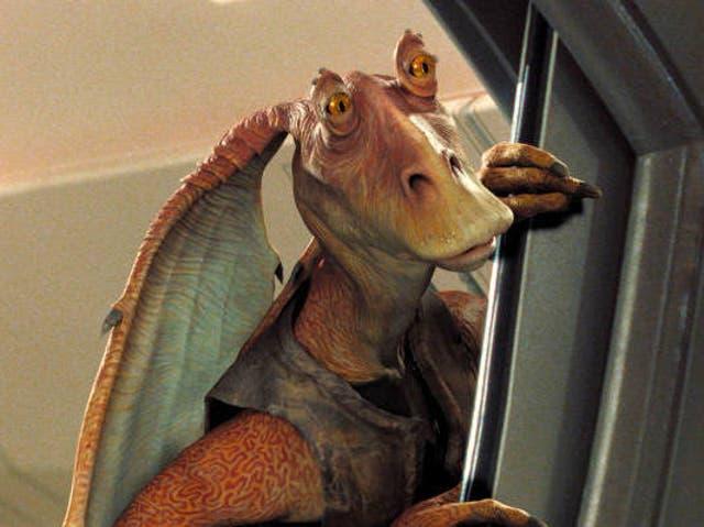 Jar Jar Binks as seen in Star Wars: The Phantom Menace