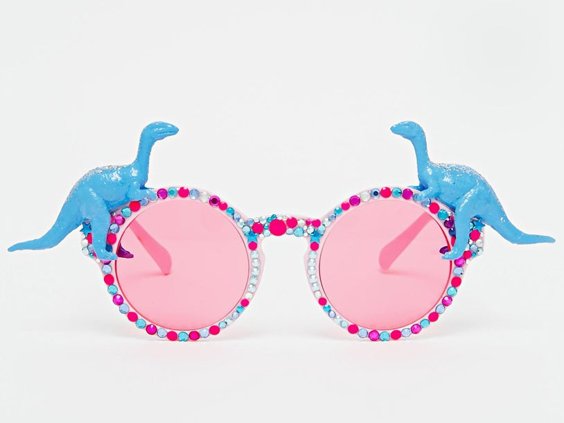 94aee8b1a7 The London-based label jumped on the bandwagon with these unusual round  glasses. They re embellished with blingy beads ...