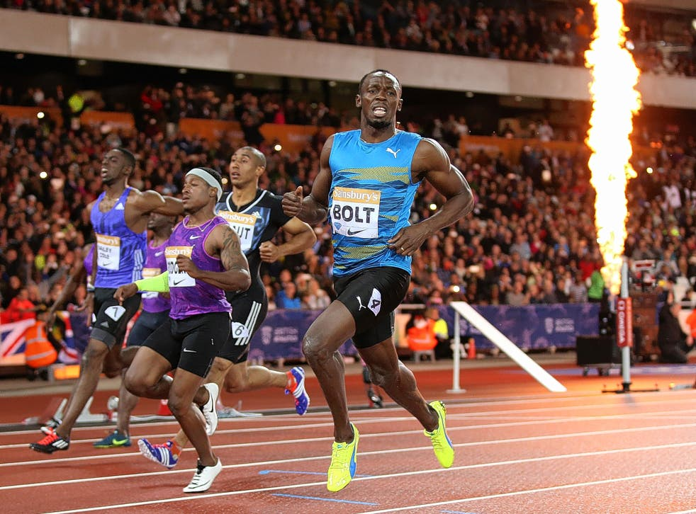 Jamaica's Usain Bolt scorches past his rivals to win the 100m at the Olympic Stadium