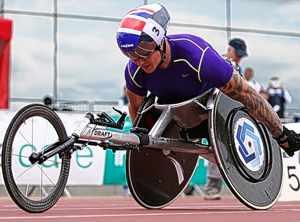 Four-time gold medallist David Weir is in the 1500m