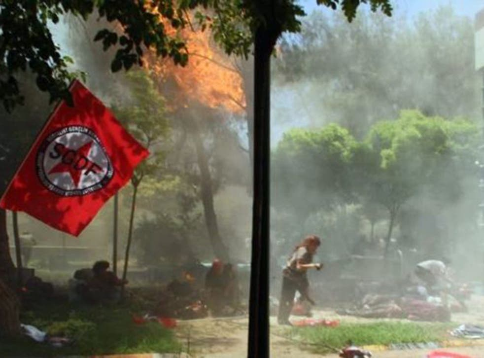 Under siege: Monday's attack on Suruc