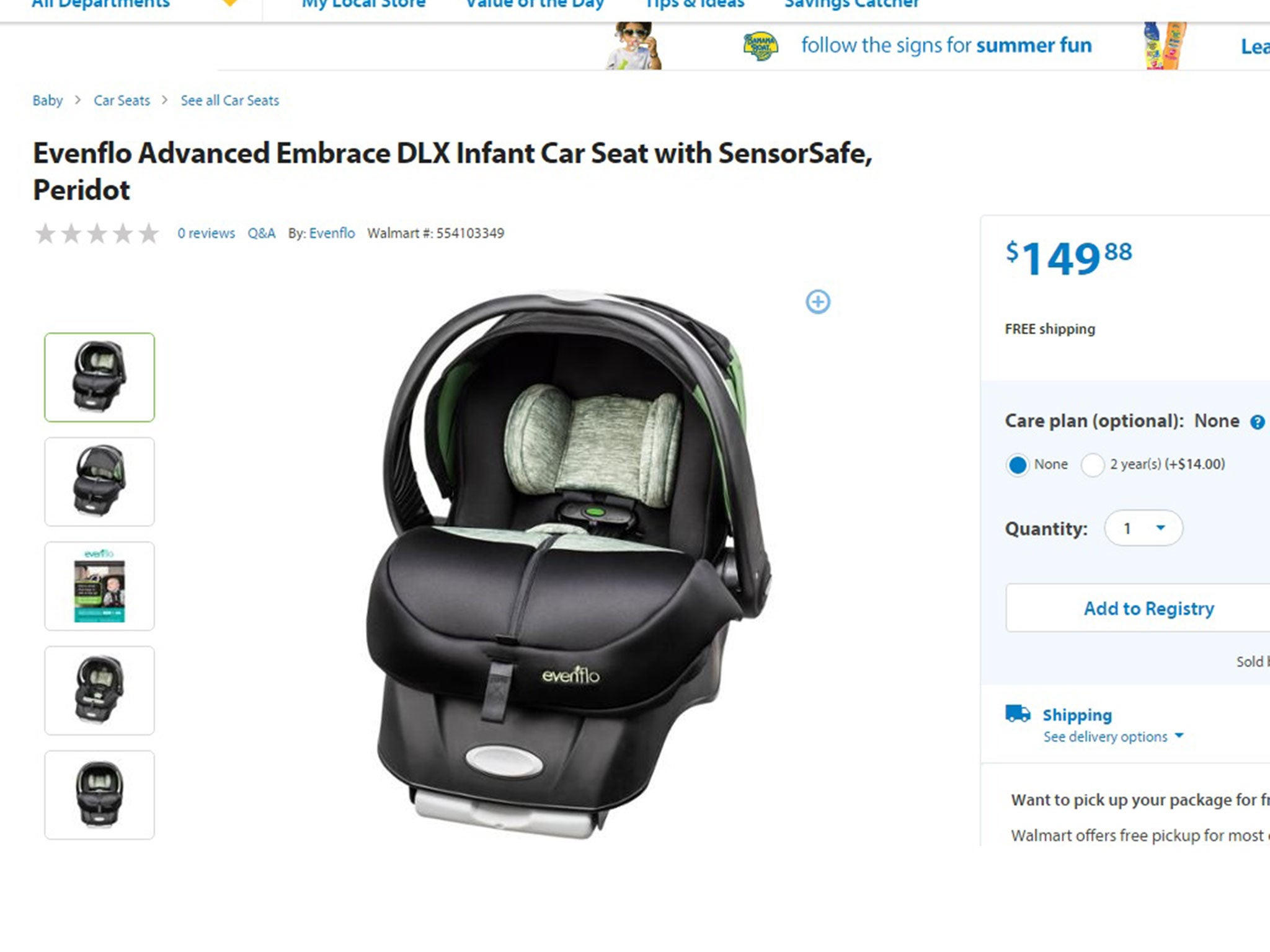 Walmart Is Selling Baby Seats With Sensors Which Alert Parents When They Leave A Child Behind