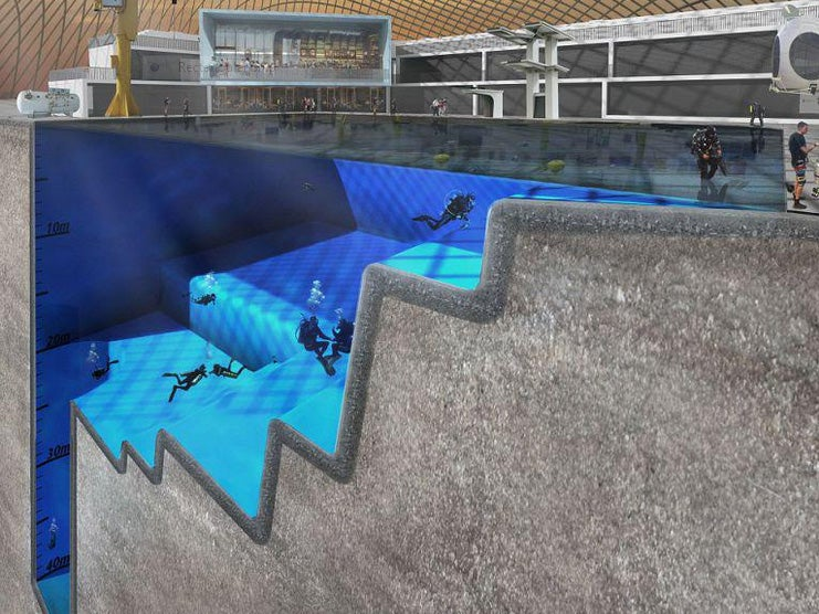 World 39 S Largest And Deepest Pool To Be Built In Essex The Independent
