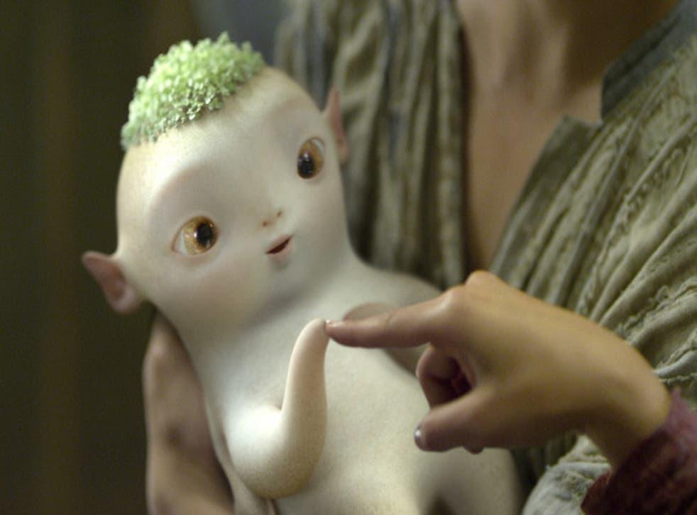 The radish-like monster, Huba, from Monster Hunt