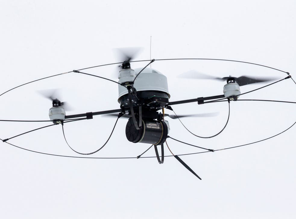 The letter warns that quadcopters such as this could be used to autonomously attack targets
