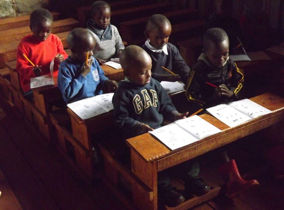 Pupils at a Bridge school in Nairobi