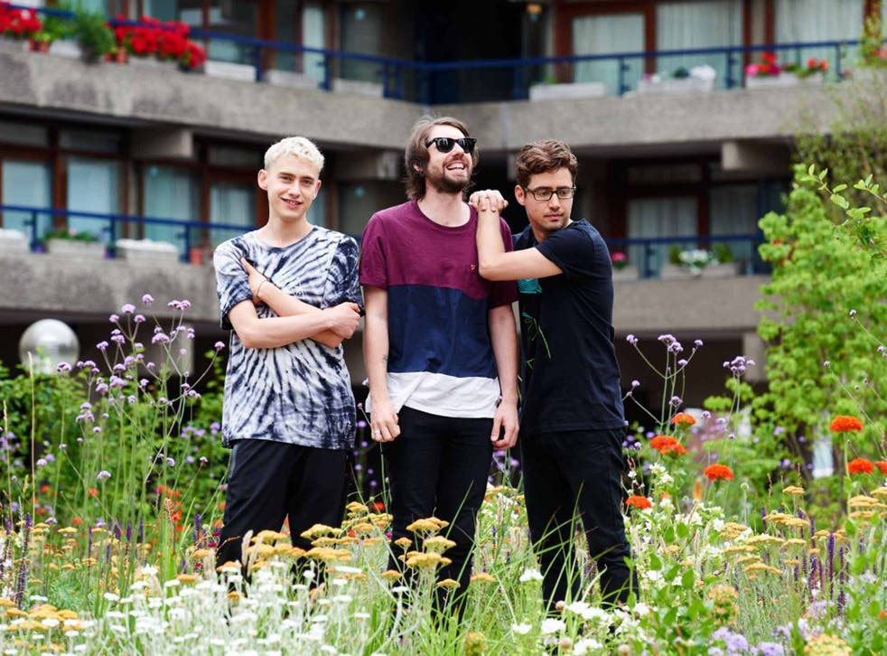 Frontman Olly Alexander, bassist Mikey Goldsworthy and synth player Emre Turkmen of Years and Years