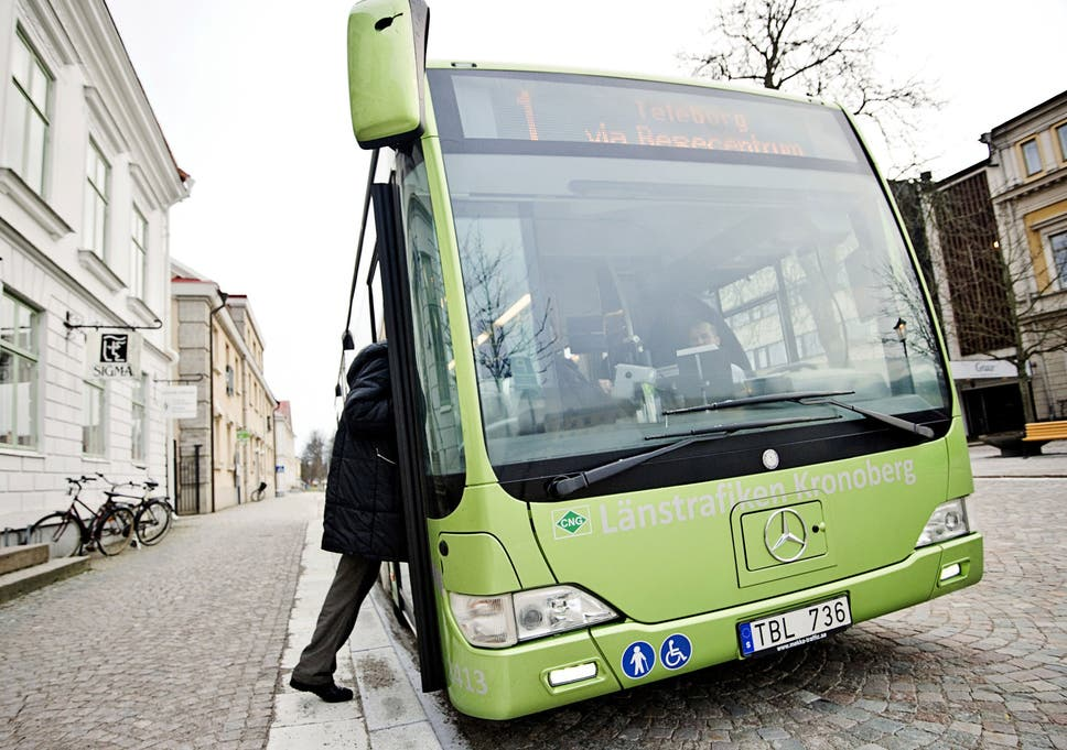 Swedish authorities are offering asylum seekers free bus