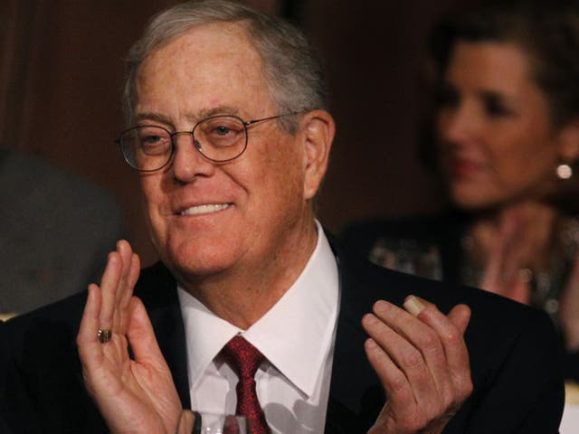 David Koch, along with his brother Charles, are members of the political network backing the summer canvassing