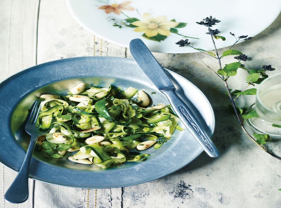 Vanilla Black's courgette, marjoram and toasted almond salad