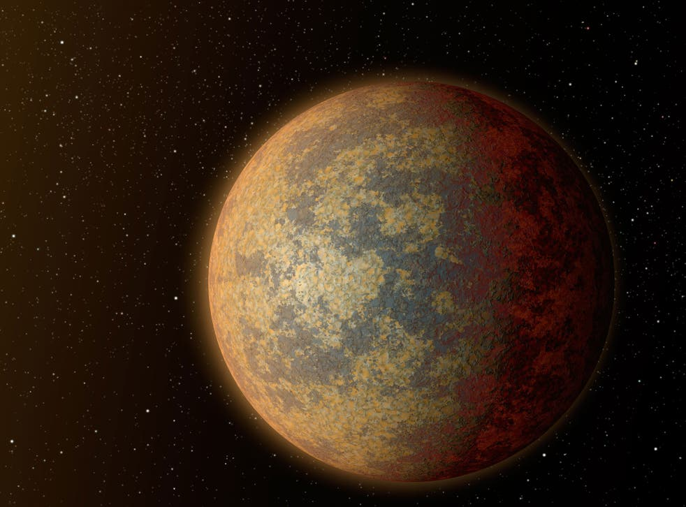 An artist's impression shows what exoplanet HD 219134b could look like