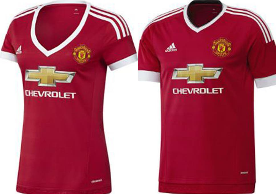 1435a605b Manchester United and Adidas branded  sexist  and  discriminatory  as women s  shirt features plunging neckline and different design